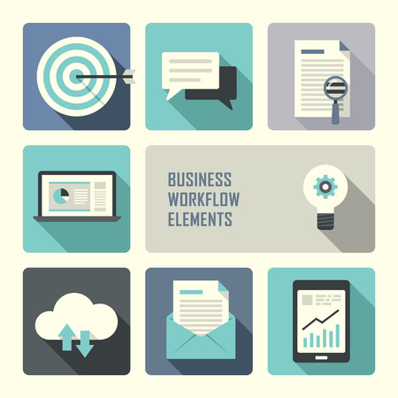 flat design concept for business workflow graphic Vector