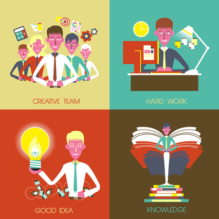 flat design for business concepts graphic set Vector