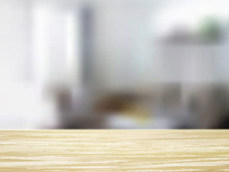 wooden desk: closeup look of wooden desk and interior Illustration