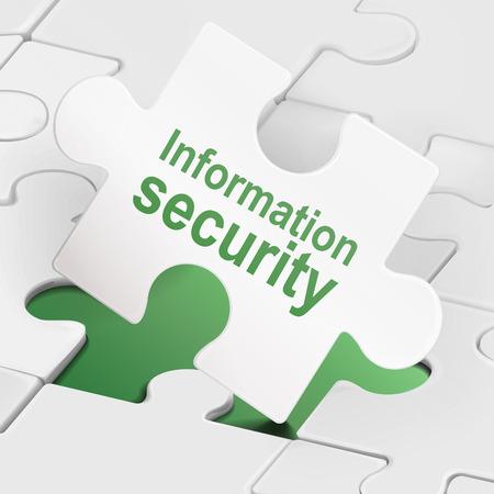 protected database: seguridad de la informaci�n sobre las piezas del rompecabezas fondo blanco