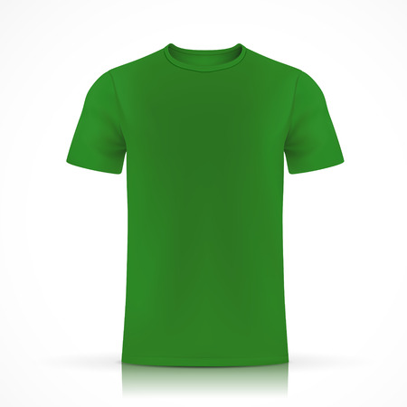 green T-shirt template isolated on white background