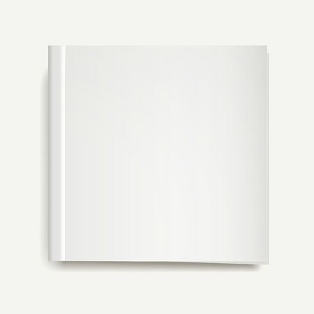 void: blank magazine or book templates on white background Illustration