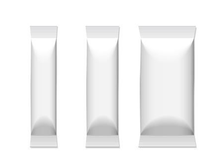 aluminium  design: blank package set isolated on white background