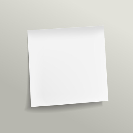 blank note: blank note paper on grey background