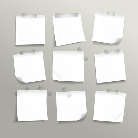 blank note: blank note paper set on grey background