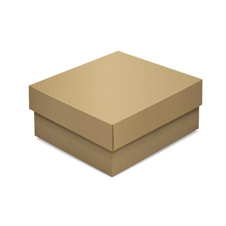 package sending: blank cardboard box isolated on white background Illustration