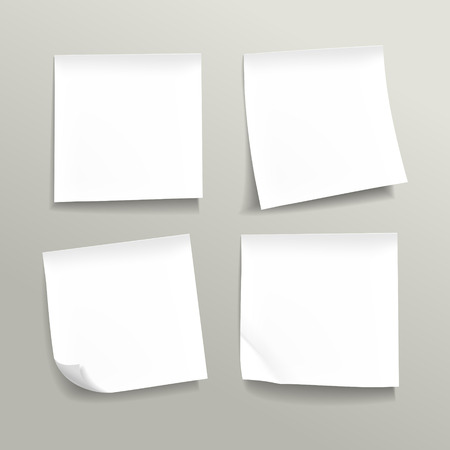 paper tag: blank note paper set on grey background