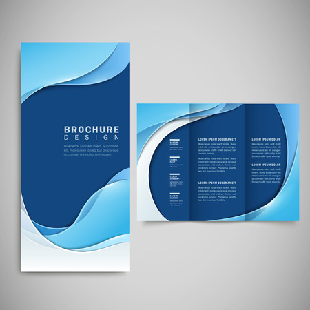 abstract smooth curve lines background brochure template