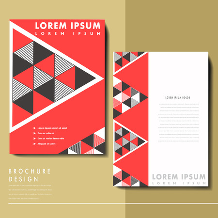 abstract modern geometric brochure in red and black