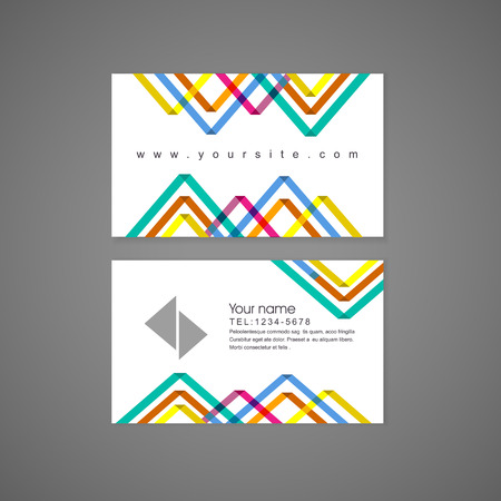abstract colorful triangle pattern background business card template