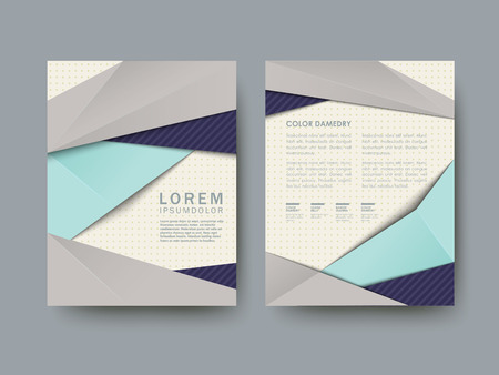 modern abstract poster template set in blue and grey