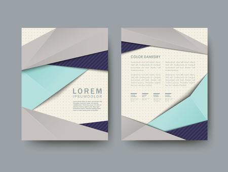modèle d'affiche abstraite moderne situé dans bleu et gris Vecteurs