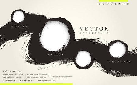 abstracte Chinese kalligrafie stijl zakelijke poster sjabloon