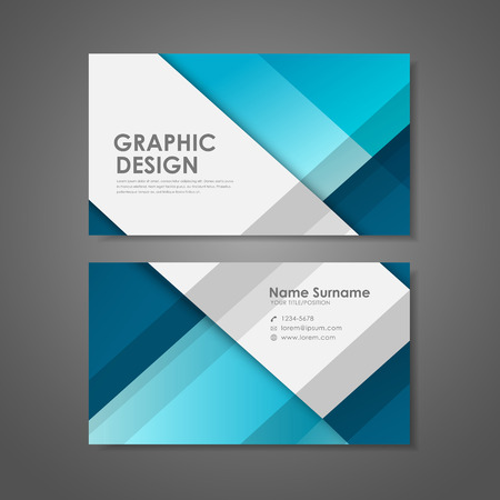 call card: abstract creative business card template in blue
