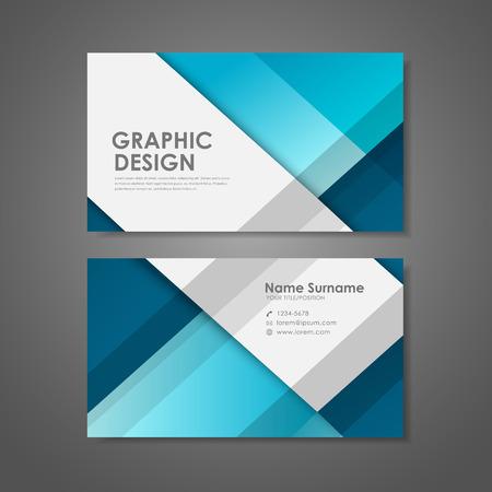 abstracte creatieve visitekaartje sjabloon in blauw