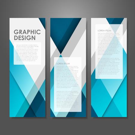 青で抽象的な創造的な広告バナーのテンプレート