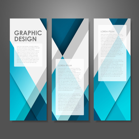 abstract creative advertising banner template in blue Banco de Imagens - 31845914