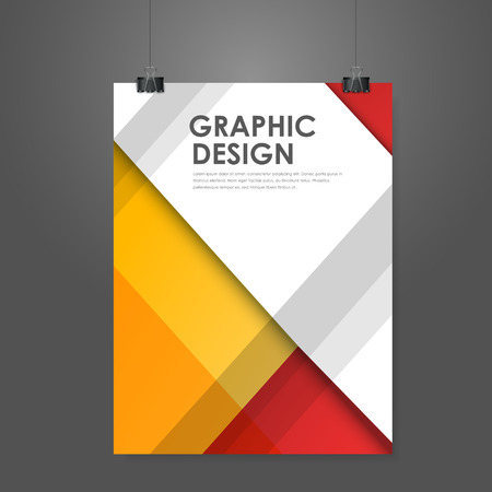 event: abstract creative business poster template in red and orange
