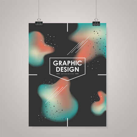 commercial activity: abstract creative business poster template in black