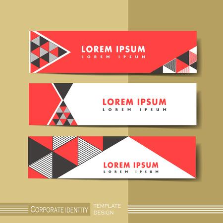 geometria: abstracto moderno banner publicitario geométrica en rojo y negro