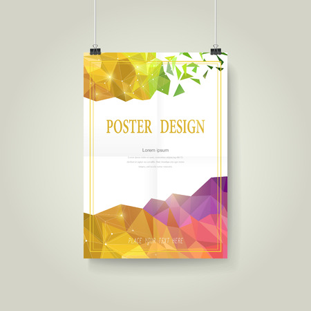event: abstract colorful geometric background poster template design