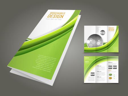 ecology background: abstract ecology concept background brochure design template  Illustration