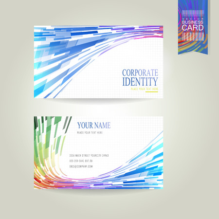 streamlined: abstract geometric streamlined style business card template