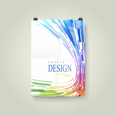 streamlined: abstract geometric streamlined style background poster template