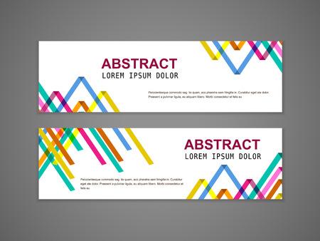 추상 다채로운 삼각형 패턴 배경 광고 배너 템플릿 일러스트