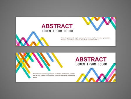 abstract colorful triangle pattern background advertising banner template