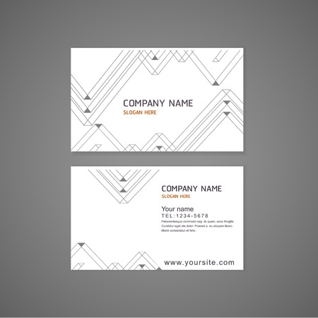 namecard: abstract modern triangle pattern background business card template  Illustration