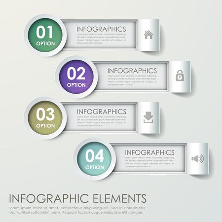 modern paper bar chart infograpic elements template