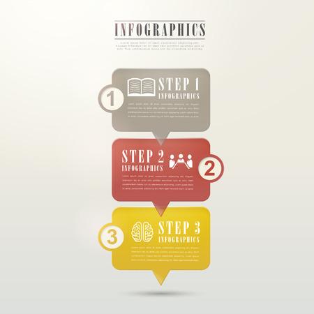 social media: modern flat speech bubble infographic elements template