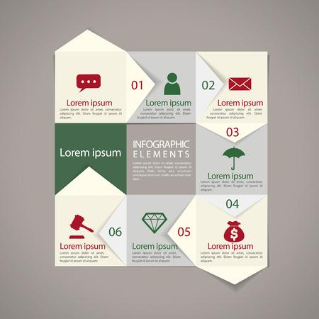 modern paper texture flowchart infographic elements template