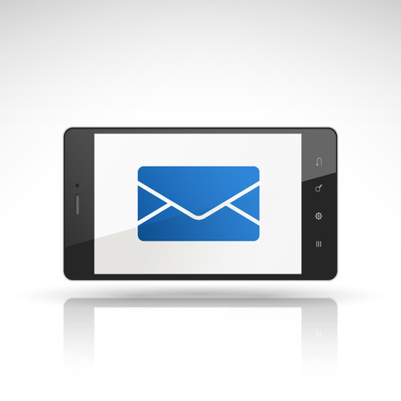 email icon on mobile phone isolated on white Vector