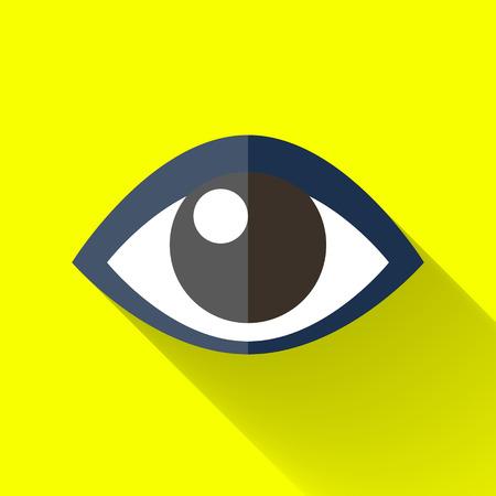 oogpictogram in kleurrijke platte design stijl Stock Illustratie