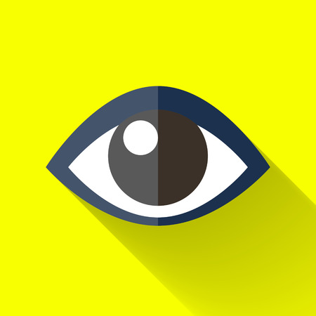 eye icon in colorful flat design style