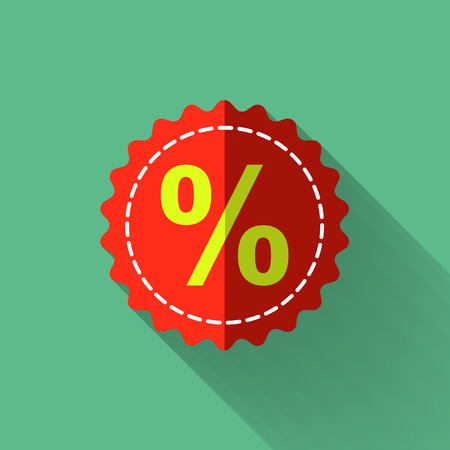 discount icon in colorful flat design style Vector