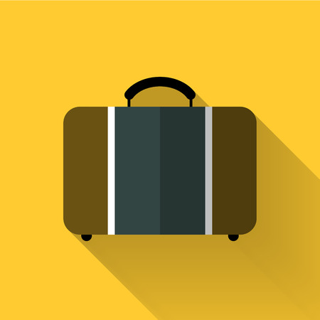 trolley case: luggage icon in colorful flat design style