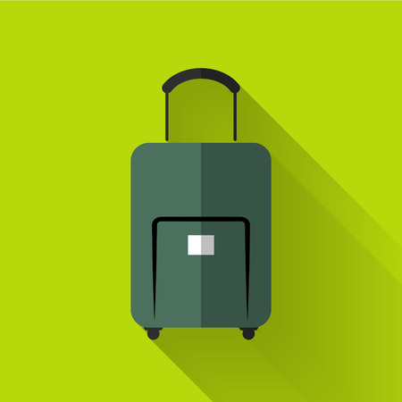 luggage tag: baggage icon in colorful flat design style