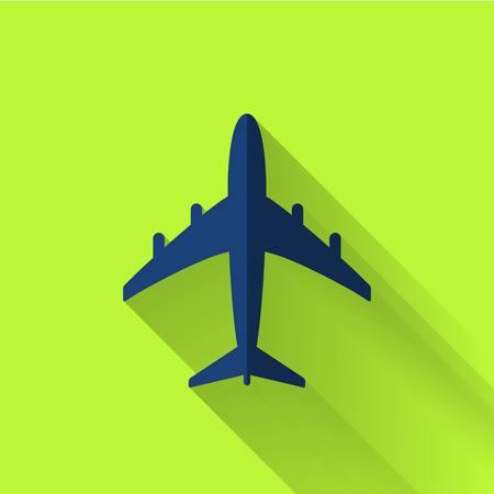 plane icon: plane icon in colorful flat design style