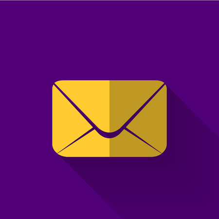 email icon in colorful flat design style Vector