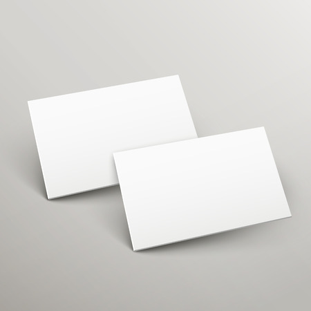 advisement: 3d name cards template design isolated on grey Illustration