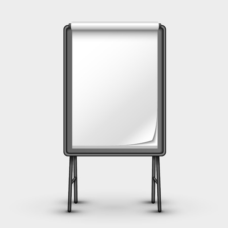 blank metal sandwich board isolated on white