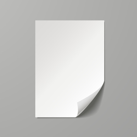 a4 borders: en blanco plantilla de hoja de papel aislado sobre fondo gris