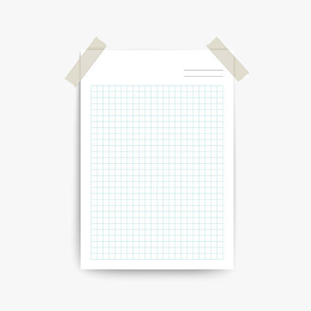 blank note: blank note paper template isolated on white