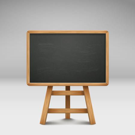 blank blackboard or sandwich board isolated on grey