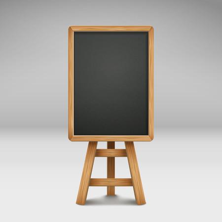 sandwich board: blank blackboard or sandwich board isolated on grey