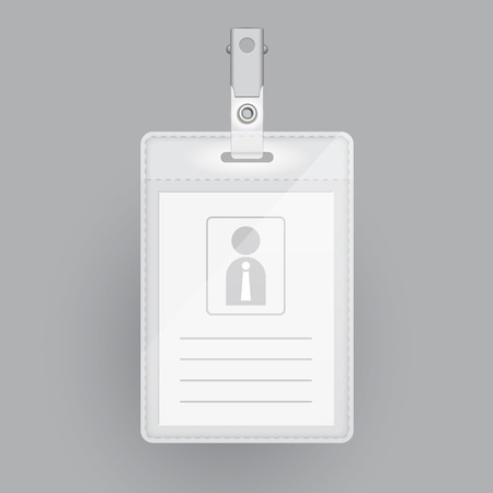 name tags: blank identification card template isolated on grey