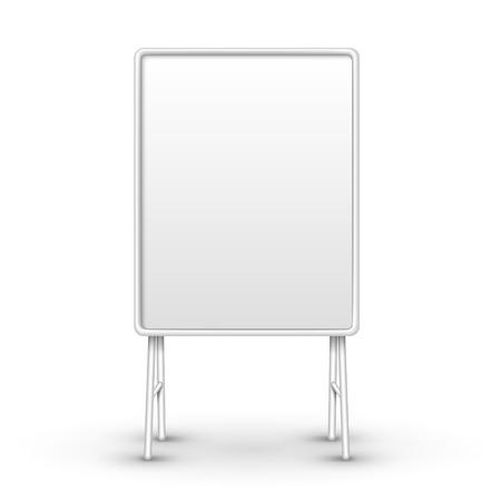 sandwich board: blank metal sandwich board isolated on white